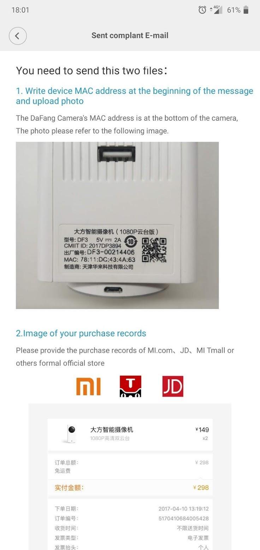 Xiaomi Dafang problem - Problemy techniczne - Forum